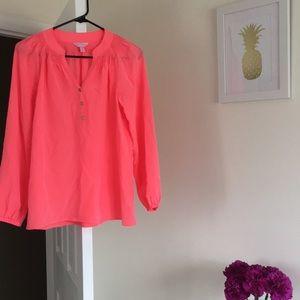 Lilly Pulitzer Hot Salmon Elsa Shirt!